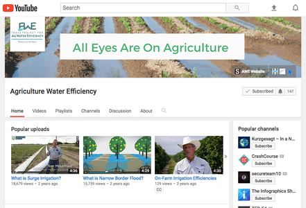 Ag Water Efficiency YouTube channel preview