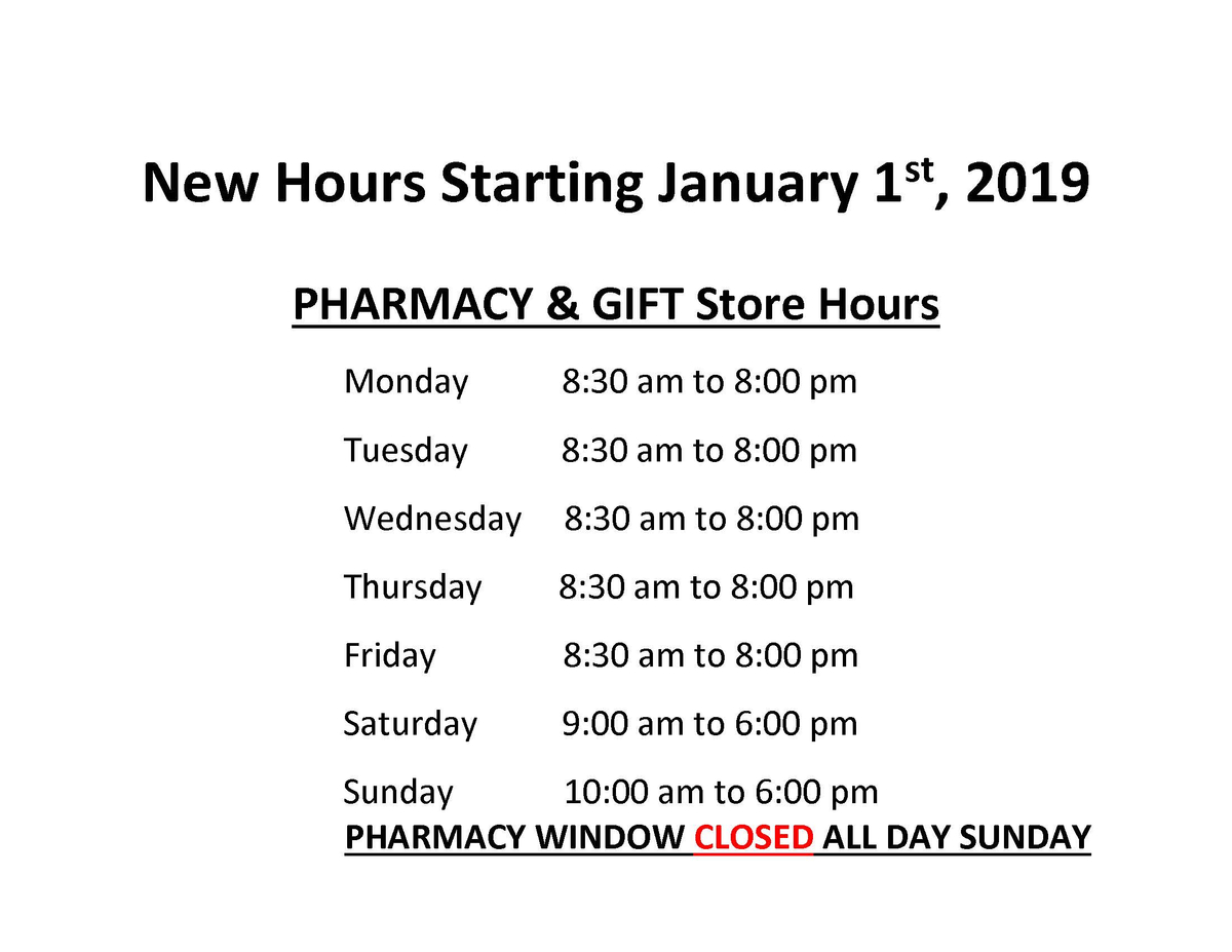 New pharmacy and store hours2 12012018.jpg