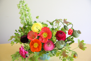 poppy arrangement