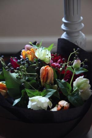 peony & hellebores bouquet