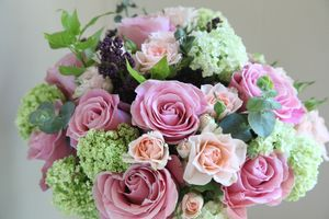 Rose & Viburnum Bouquet - Miki Ueyama