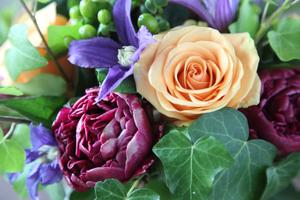 rose & peony arrangement