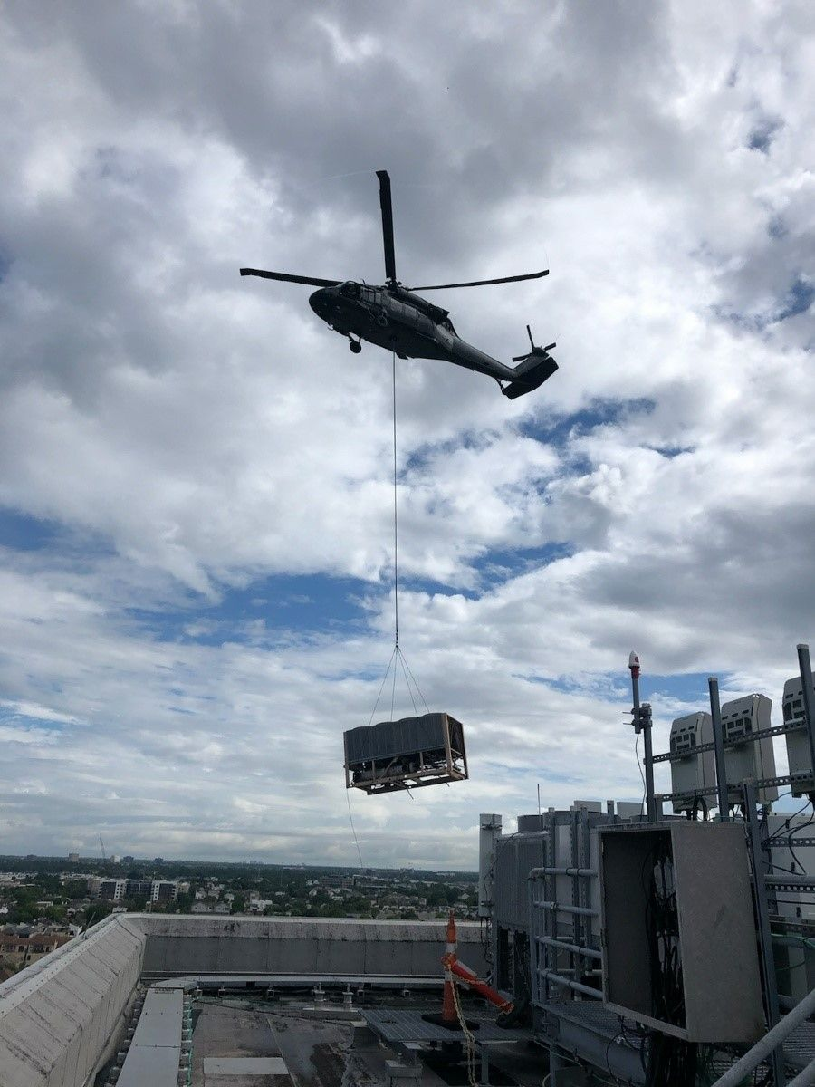black hawk aerial crane heavy lift 8000 pounds