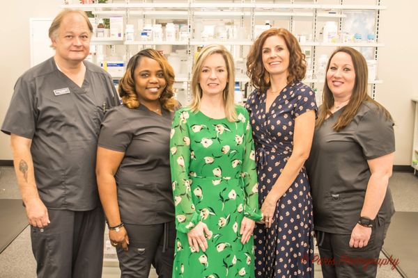 Scotty Sprouse certified technician, Gertie Morris technician, Jenny Sullivant Pharmacist, Rebekah Gray Pharmacist and Jessica Taylor technician.jpg