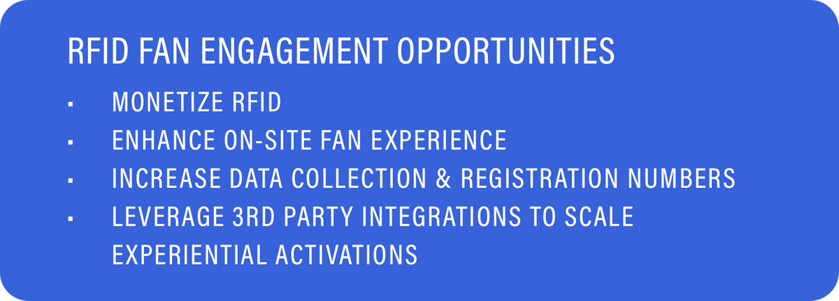 RFID Fan Engagement Opportunities