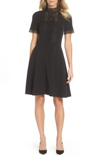Tahari Lace Inset Fit & Flare Crepe Dress.jpg