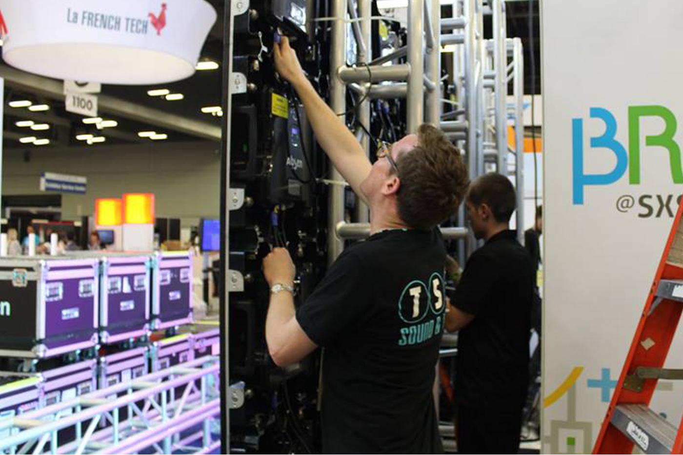 tsv stl led video wall rental
