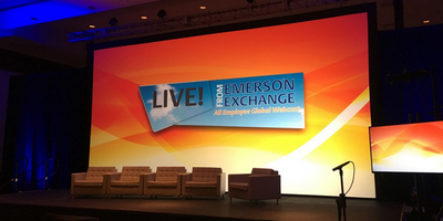 Emerson Exchange Projector Screen Display