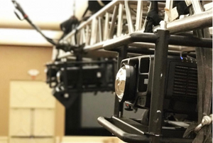 Projector on a truss