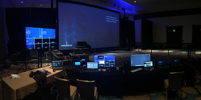 Video village at an Emerson Conference