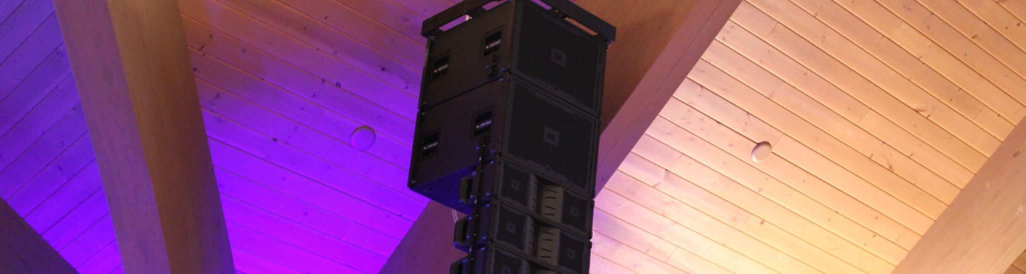JBL Speaker at a corporate conference