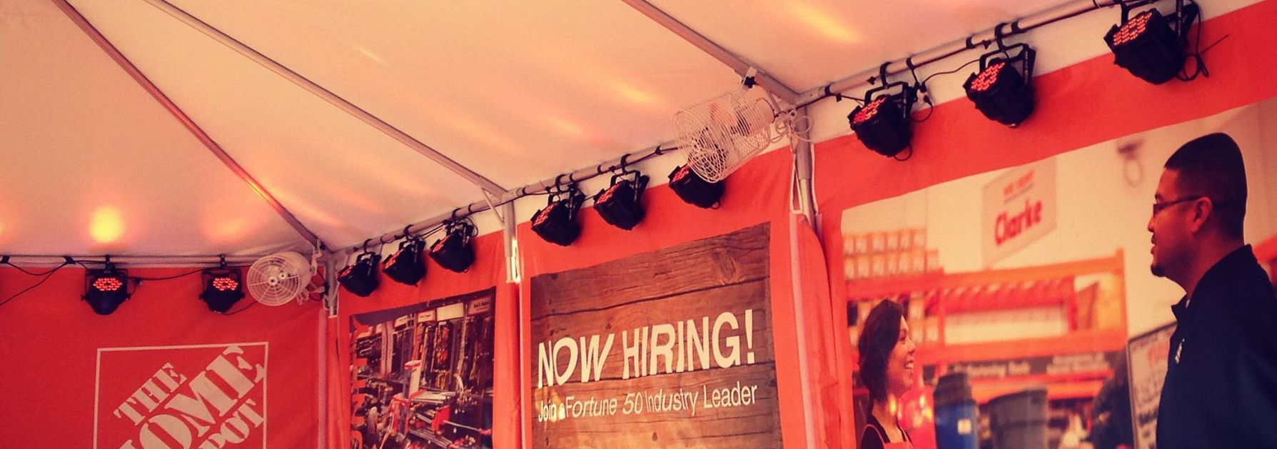 home depot booth