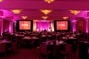 Ballroom Lighting and Projectors for Corporate Event