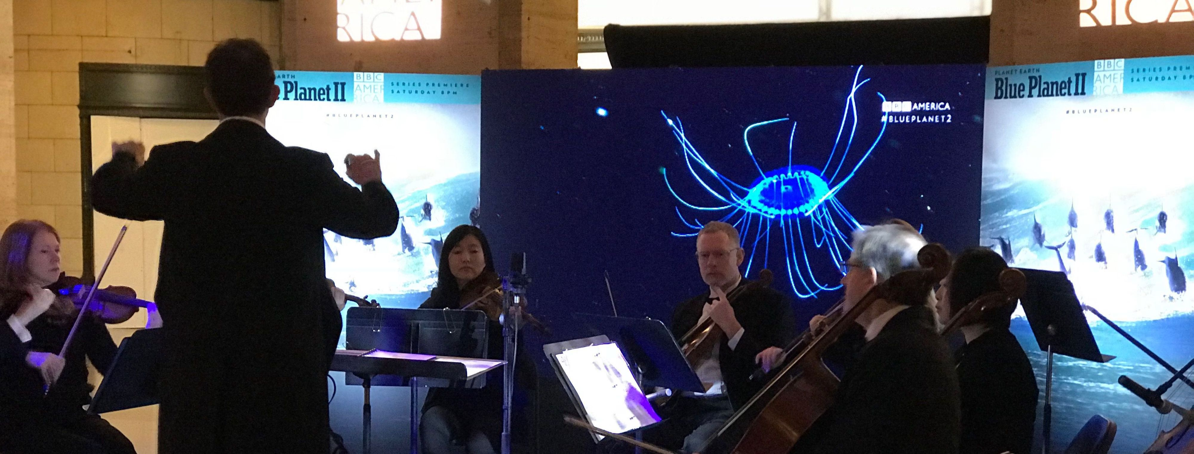 Blue Planet II BBC Orchestra Pop Up in Chicago Union Station