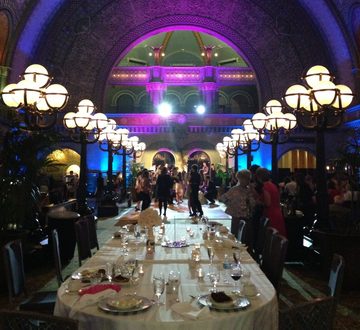 A wedding reception in Union Station St. Louis