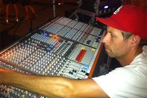 Joe working on an Allen & Heath GL3300