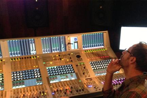 Audio Engineer on a Soundcraft Console