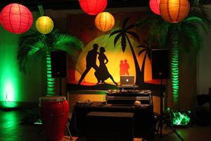 Tropical Wedding Backdrop for Miami Themed Wedding