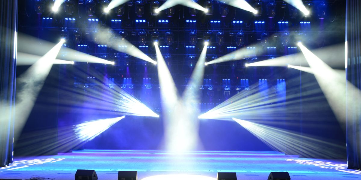 White Wash Lights on A Stage