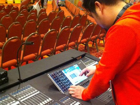 Audio Engineer using Yamaha M7CL