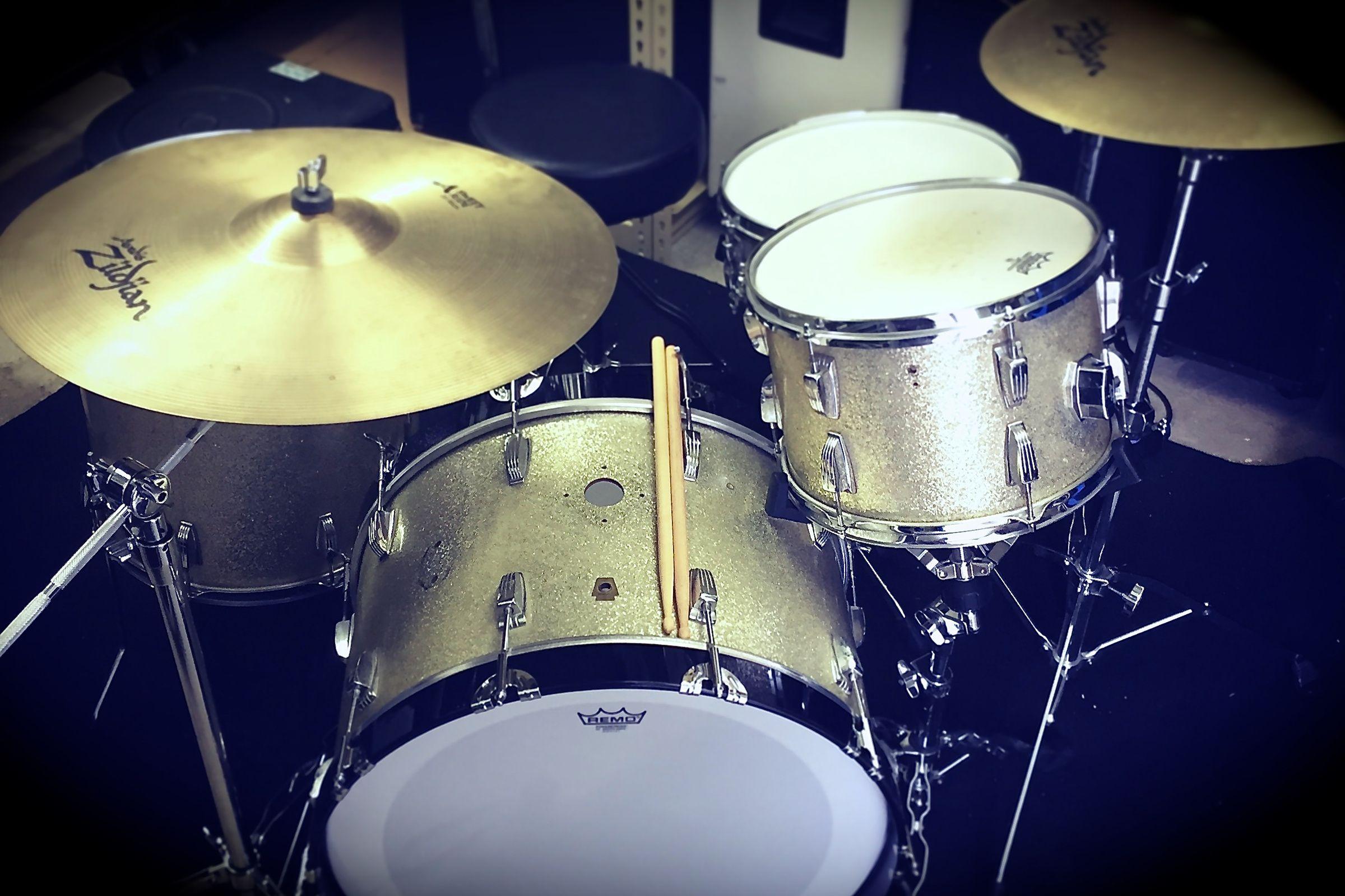 Gold drum set