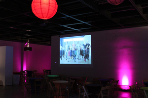 On-Wall Video Projection with Lighting
