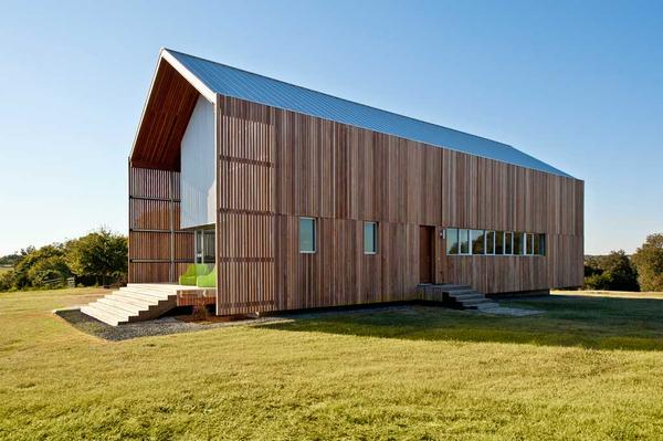 Barndominium wood exterior
