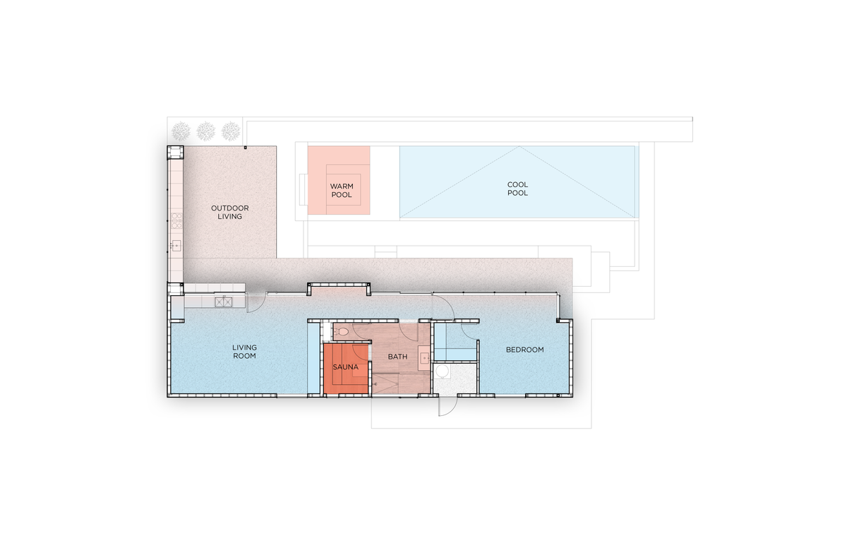 Nested house floorplan