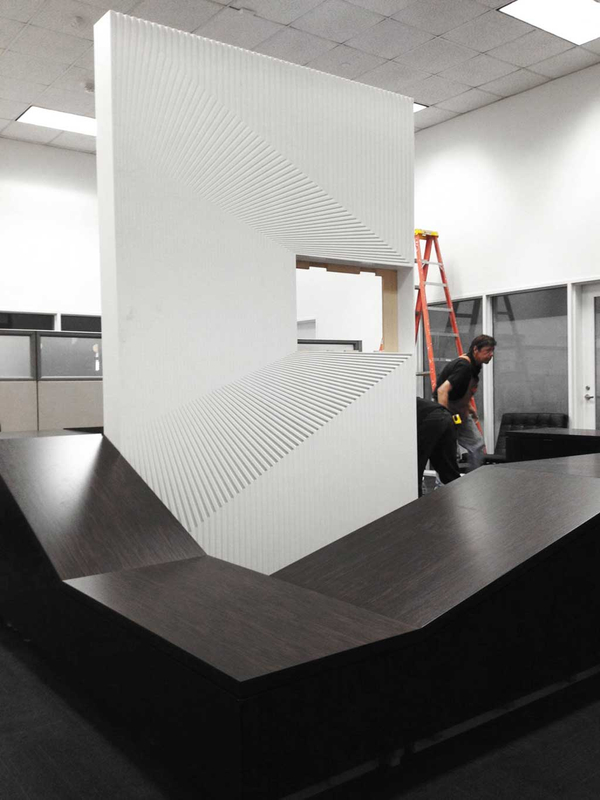 Deskscape milled design