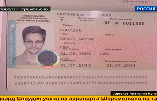 Snowden passport