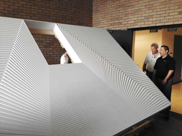 Deskscape milled wall