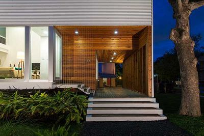 perforated house front