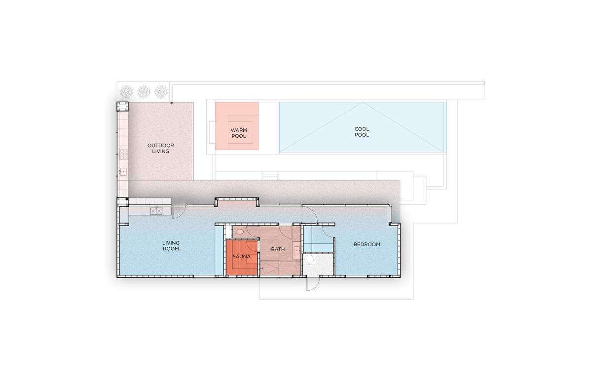 Nested house floorplan