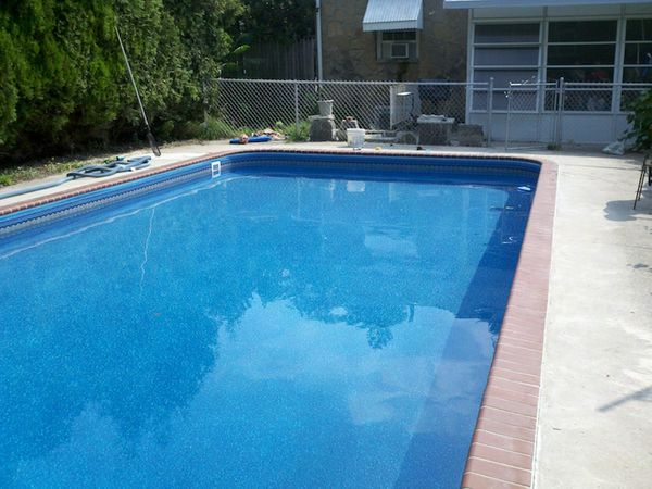 Vinyl liner block wall construction. Rebuild top of wall and installation of new liner_after.jpg