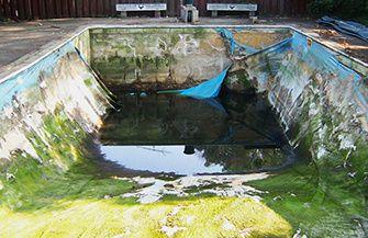 pool liner before