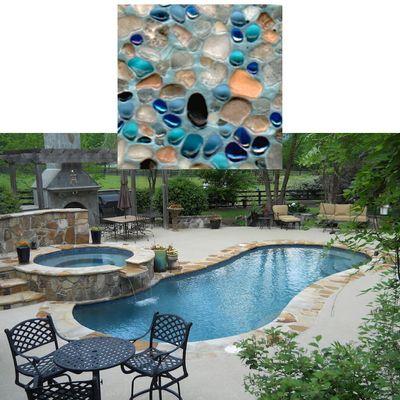 Prism Matrix Blue Lagoon Pool Surface