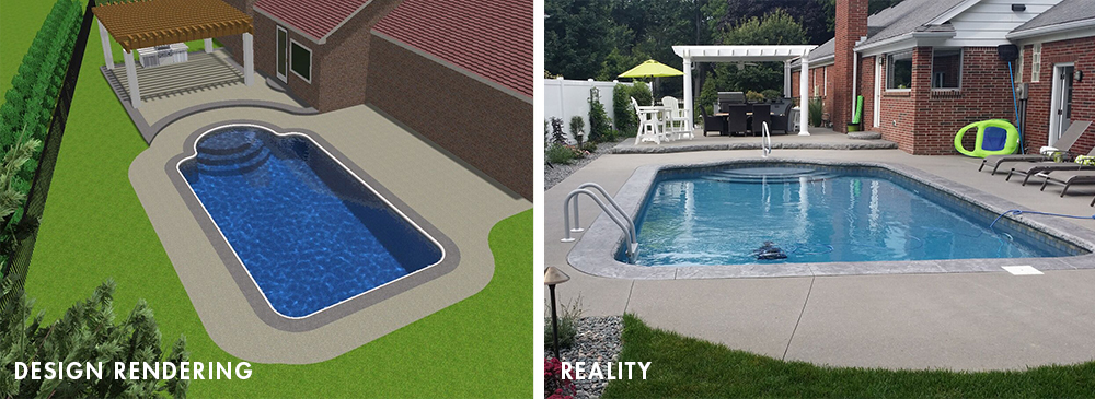 Pool design gallery daudelin pool services for Pool design services