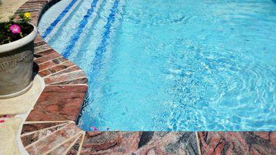 granite swimming pool coping