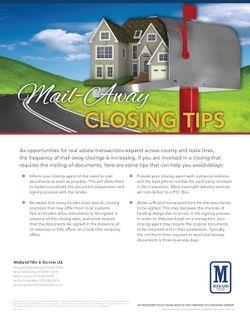 Mail-Away Closing Tips