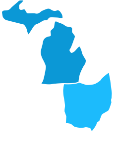 Michigan and Ohio