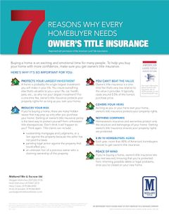 7 Reasons Why Every Homebuyer Needs Owner's Title Insurance