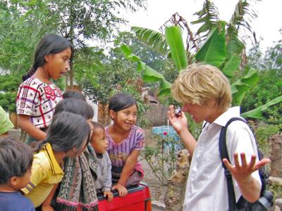 Ian negotiates with children near Panabaj.jpg