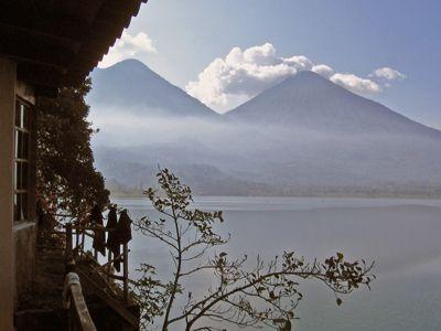 Patio view of Volcanoes Atitlan and Toliman in Guatemala.jpg