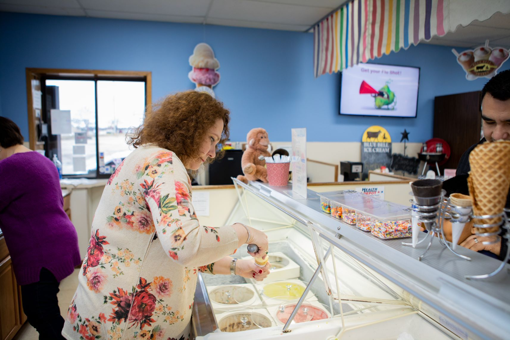 Stop By Our Ice Cream Counter!