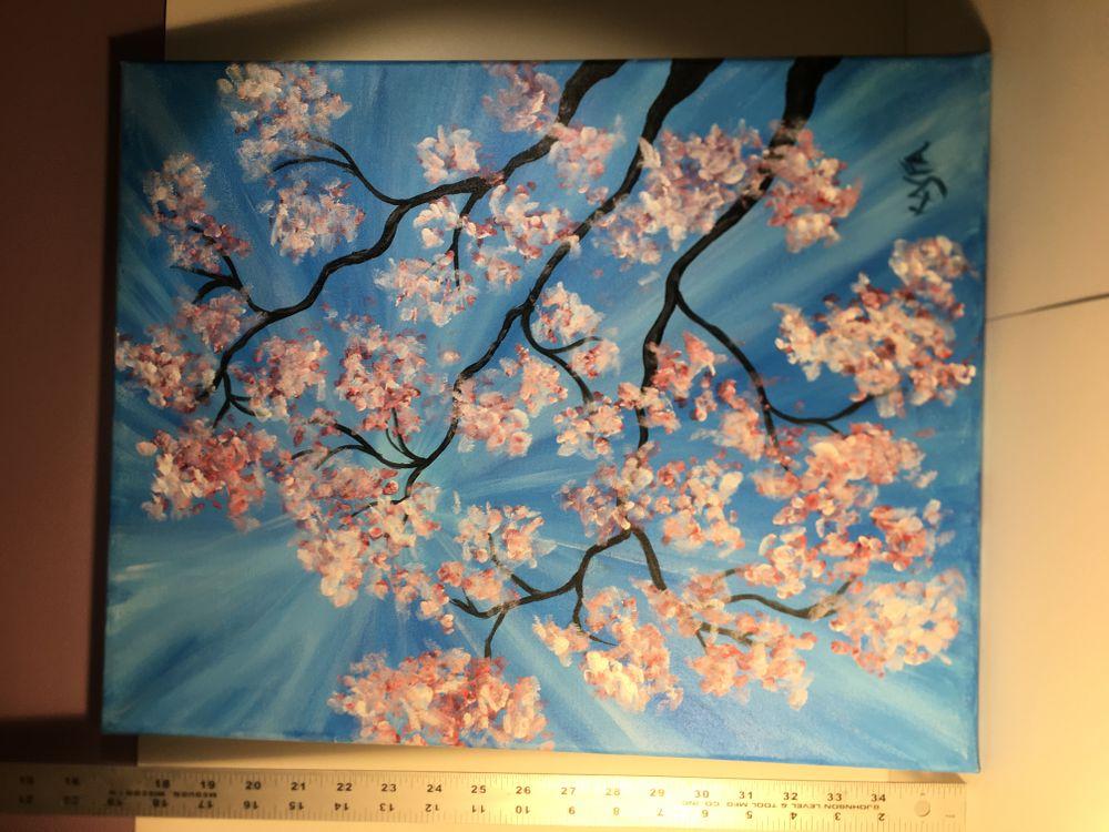 original painting Niagara Falls Apple Blossoms.JPG