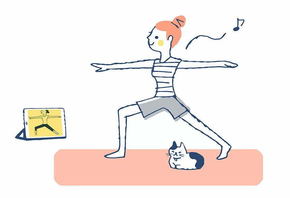 Online Yoga girlncat Illustration small.jpg