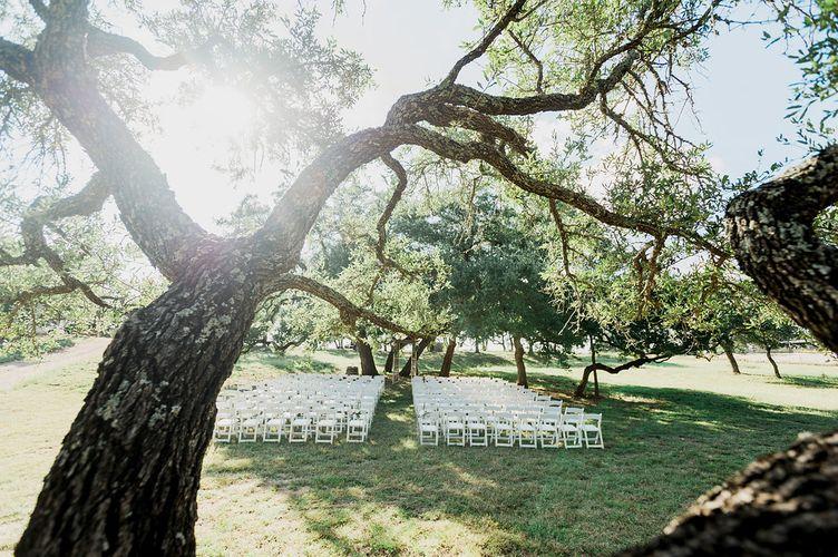 Outdoor Garden Wedding Texas Hill Country