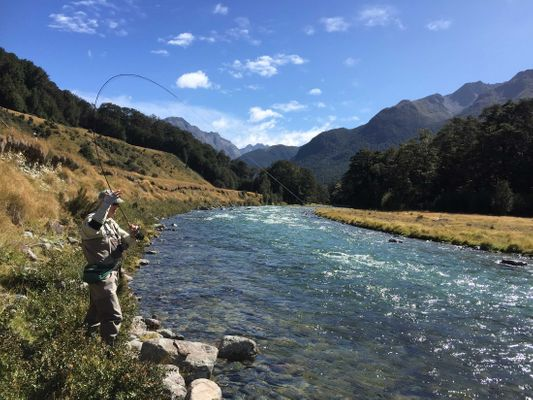 Fishing in the Mt Aspiring Valley