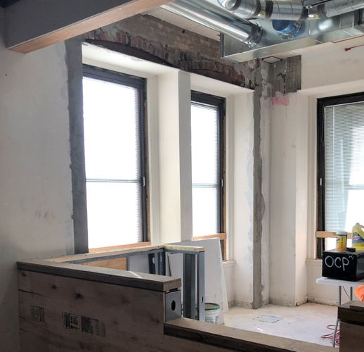 Historic Construction Interior Framing and Drywall