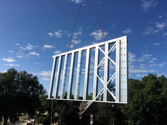 Cold Formed Metal Framing The Abott Apartments East Lansing Michigan